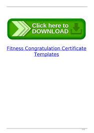Congratulation Certificate Fitness Congratulation Certificate Templates By Forletemdi Issuu