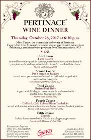 pertinace wine dinner