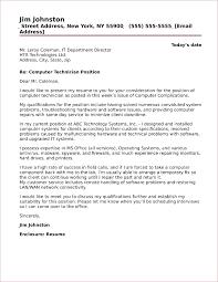 Computer Technician Cover Letter Sample