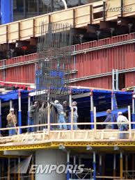 Rebar Chicago Lowering A Steel Rebar Cage Into Place Trump International Hotel