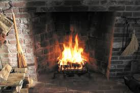 a rumford fireplace in action