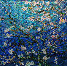 korean artist lee kyu hak creates beautiful mixed a paintings mosaics by wrapping small wooden wedges with colored newsprint that mimic the