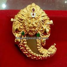 antique work lakshmi narasimha swamy pendant with tiger claw