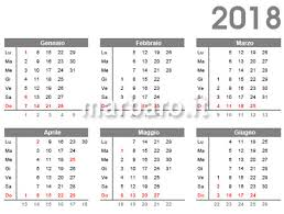 Calendario 2018 Da Stampare Scarica Gratis In Pdf