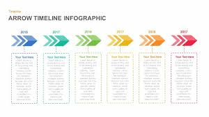Timeline Photo Template Arrow Timeline Powerpoint Template And Keynote Slide