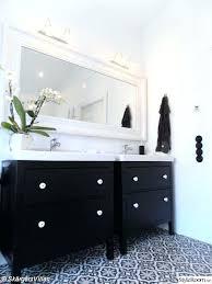 ikea double vanity bathroom in nice white mirror