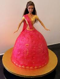 How To Make Barbie Doll Cake In Hindi