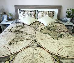 antique looking bedding vintage looking duvet covers map bedding old on photo of vintage nostalgia yellow