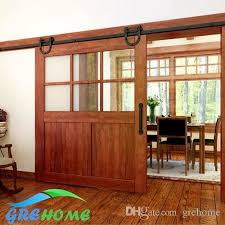 2018 4 9ft 6ft 6 6ft carbon steel barn wood sliding doors hardware track system from grehome 66 84 dhgate
