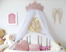 Princess Crown Wall Canopy Crib Canopy Bed Crown Pink Princess Wall ...