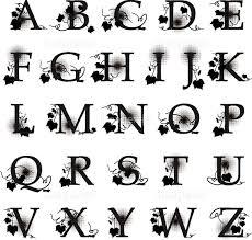 葉 飾り 文字 アルファベット 装飾の画像素材19006827 イラスト