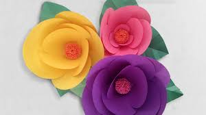 Glace Paper Flower How To Make Paper Flowers
