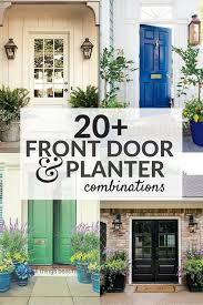 20+ Front Door Ideas, Front Door and Planter Combinations, Matching Planters  on each