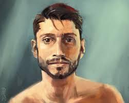 Digital Portrait Painting Deg Philip Painting A Digital Portrait