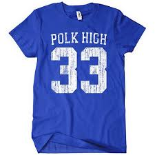 Textual Tees Size Chart Polk High T Shirt