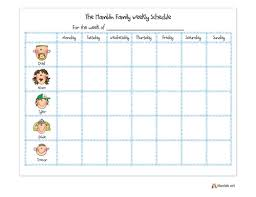 Family Calendar Chore Chart Personalized Character Family Weekly Calendar In 2019
