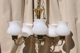 glass shades for hanging lights astonishing vintage hobnail milk chandelier shabby cottage chic decorating ideas 22