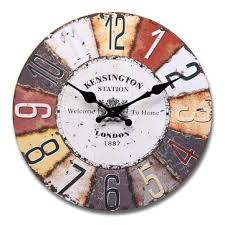wall clocks for office. Vintage Style Colorful Round Wood Wall Clock Office Home Living Room Decor Wall Clocks For Office