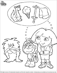 If you like dora coloring sheets this is where you will find the most beautiful ones. Free Dora The Explorer Color Sheet Coloring Library