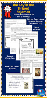 images about ms smith the boy in the striped pajamas cross strand literature unit for grades 6 8