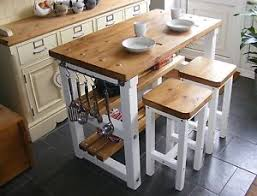 Kitchen islands with breakfast bar Portable Image Is Loading Rustickitchenislandbreakfastbarworkbenchbutchers Ebay Rustic Kitchen Island Breakfast Bar Work Bench Butchers Block With