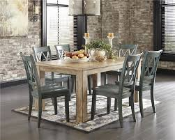 ashley dining room sets. signature design by ashley mestler 5-piece table set with antique blue chrs - item dining room sets f