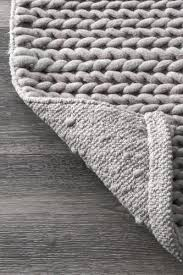 nuloom chunky woolen cable light grey area rug 4