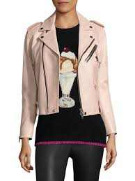 coach 1941 icon leather moto jacket powder pink women s jackets vests faux coach jacket custom er 2017