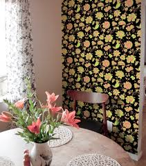 ... Large Size Diy Decor Wallpaper Tiles For Renters Apartment Floral  Accent Wall Easy Temporary ...