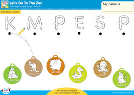 By using the bingobonic free phonics worksheets, esl/efl students will quickly learn and master the following: Let S Go To The Zoo Worksheet Uppercase Letter Matching Super Simple