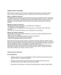 Resume General Objectives Examples - Tier.brianhenry.co