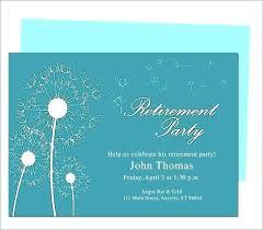 Microsoft Word Templates Invitations Free Printable Retirement Party Invitations Templates