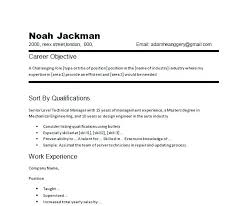 Simple Resume Objective Resume Letter Directory