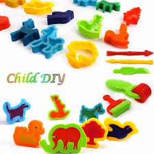 diy kids toy colorful mud clay 3d mold tool set suit plasticine non toxic mold tool for children day birthday multicolor