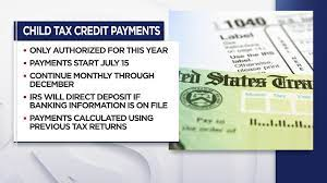 First Monthly Child Tax Credit Payment ...
