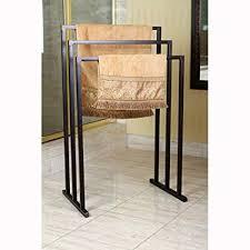 standing towel rack. 3-tier Iron Towel Rack - Free Standing Oil Rubbed Bronze