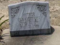 Ola Avery Cox (1891-1966) - Find A Grave Memorial
