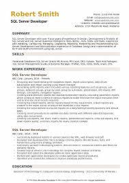 Sql Skills Resumes Sql Server Developer Resume Samples Qwikresume
