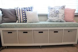 wondrous storage bench ikea with cushions seat and pillows with assorted color and patterns