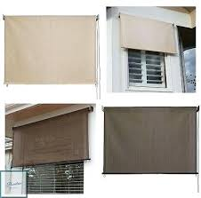 outdoor window coverings shade exterior solar roll up patio curtain screen treatment blind ideas side panels for winter