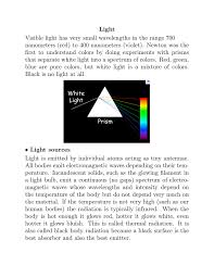 First Light Spectrum Light Visible Light Has Very Small Wavelengths In The Range 700