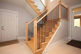 basement stair railings removable railing ideas for