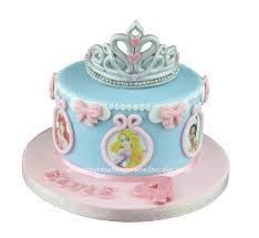 Disney Princess Birthday Cake with Tiara Topper