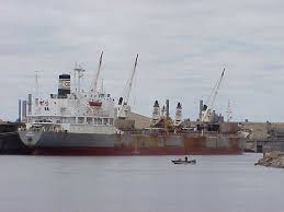 the first big load over 10 000 tons of pig iron to marinette fuel dock on april 9 ira bow view vancouverborg arrived in menominee too heavy