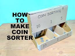 picture of how to make a coin sorter with cardboard