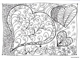 Coloriage Coeur Zen Dessin Coloriage Gratuit Love Imprimer