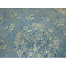 oversize light blue chinese rug