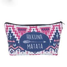 2019 2019 Cosmetic Organizer Bag <b>Hakuna Matata</b> 3D <b>Printing</b> ...