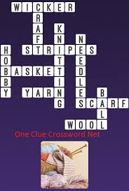 one clue crossword knitting answer