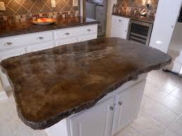 chisel edge concrete countertop island